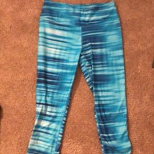 Blue nike workout leggings